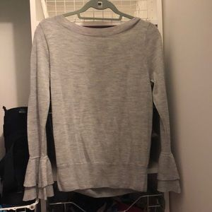 Jcrew Gray long sleeve cashmere shirt
